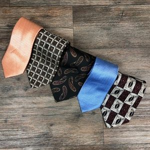 Other - Lot of 5 Silk Ties Classic Length T25